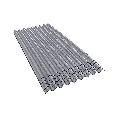 ONDURA 900 Corrugated Asphalt Roofing (5-Pack), Gray
