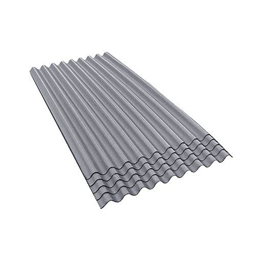 (ONDURA 900 Corrugated Asphalt Roofing (5-Pack), Gray)