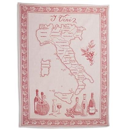 Sur La Table Vini Italian Jacquard Kitchen Towel VINI ITALY, 30u0026quot; ...