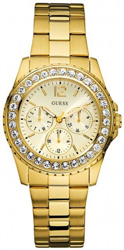 GUESS Factory Women's Gold-Tone Multifunction Watch