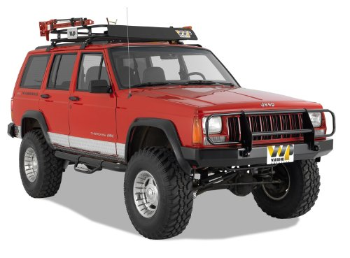 Warrior Products 56051 Front Contour Bumper with Brush Guard and D-Rings for Cherokee 84-01
