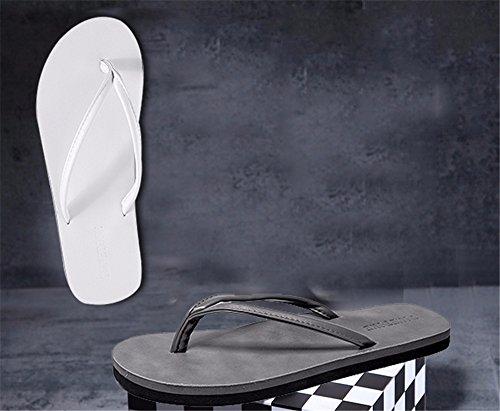 Verano Los F ZGSR Negro Flop Couple Usan Flip Beach Zapatillas Slip Non Beach Modelos De BxnHn