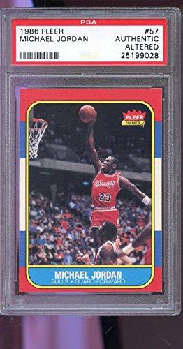 1986 Fleer Basketball Cards - 1986-87 Fleer #57 Michael Jordan ROOKIE RC PSA AUTHENTIC Graded Basketball Card