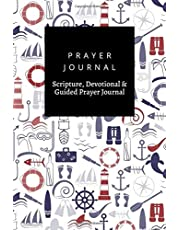 Prayer Journal, Scripture, Devotional & Guided Prayer Journal: Nautical design, Prayer Journal Gift, 6x9, Soft Cover, Matte Finish