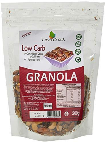 Granola sem Gluten Low Carb com Nibs de Cacau e Goji Berry Leve Crock 200g