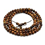 Zen Dear Unisex Natural Qinan Agarwood Prayer Beads Tibetan Buddhism Mala Bracelet Necklace Beads