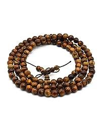 Zen Dear Unisex Natural Qinan Agarwood Prayer Beads Tibetan Buddhism Mala Bracelet Necklace Beads