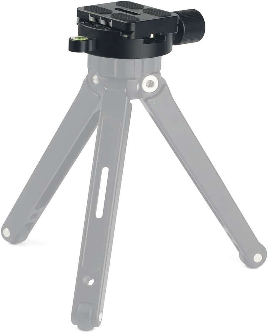 KANEED DM-55 Aluminum Alloy Round Clamp with Arca-Swiss Quick Release Plate Color : Black Black Tripod Head