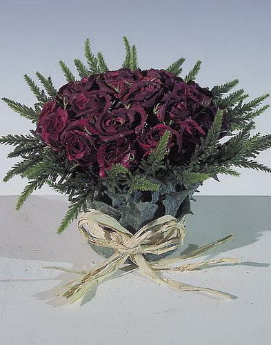 Amazon De Rosen Im Blatt Topf Kunstblume Hochwertiges Material