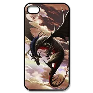 LZHCASE Diy Customized hard Case Dragon For Iphone 4/4s [Pattern-1]