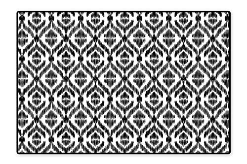 Collection Area Rug Abstract Sketchy Like Rectangulars Composed with Stripes and Circles Design Black and White Ideal Anti Slip 6'6