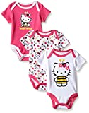 Apparel : Hello Kitty Baby Girls' 3-Pack Bodysuits