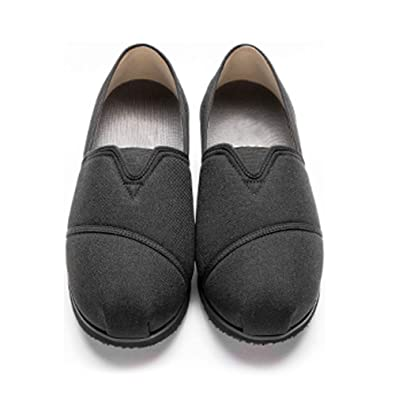 e5b8cb97bc7 Women Extra Shoes Slip-on with Adjustable Band Nonslip Loafers for Elderly  Diabetic Swollen Feet