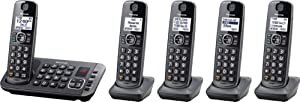 Panasonic KX-TGE645M ( 5 Handsets ) Cordless Phone With Digital Answering System ( Expandable ) DECT 6.0 (Renewed)