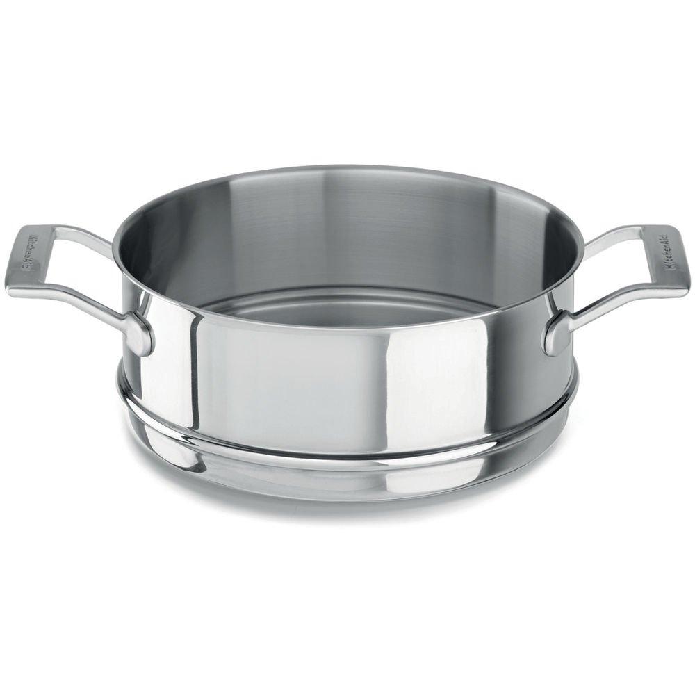 Kitchenaid Cocina al Vapor Uso para Olla, Acero Inoxidable, diámetro 24 cm, Plata, 24 cm: Amazon.es: Hogar