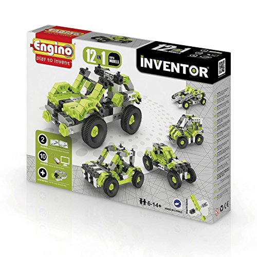 Engino.net Ltd Inventor Build 12 Models Cars Construction Kit ()