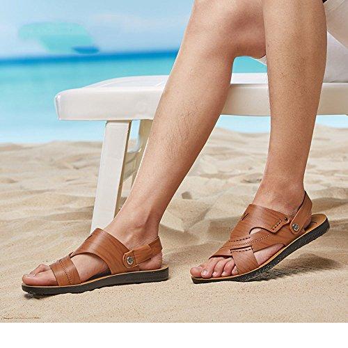 Al Zapatillas Hombre transpirables y para Zapatillas de al suaves playa Koyi Sandalias libre Marrón Verano Senderismo deportes practicar aire aire libre dwpEdqB0x