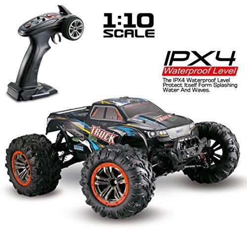 RC Car - Vanvler 1/10 Scale High Speed 46km/h 2.4Ghz 4WD Radio Controlled Off-Road RC Car (Multicolor) (10 Scale Rc Truck Nitro 1)
