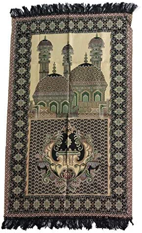 HDI Muslim Prayer Mat Lightweight Thin Istanbul Turkey Sajadah Carpet Islam Eid Ramadan Gift Black_02