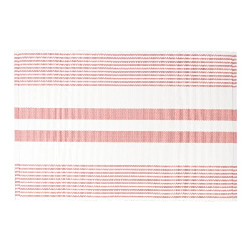C&F Home Classic Stripe Woven Peony Pink & White Stripe Woven Single Placemat Rectangular Placemat Peony ()