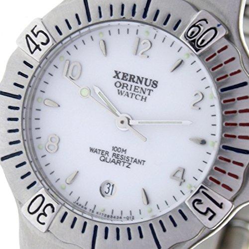 Orient Watch K-178543-a Reloj Analogico para Mujer Colección Xernus Caja De Acero Inoxidable Esfera Color Blanco: Amazon.es: Relojes