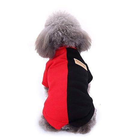 Ropa para Mascotas, Gusspower Chaqueta Ropa de Abrigo Invierno Sudadera Suéter Bicolor cálido cómodo para