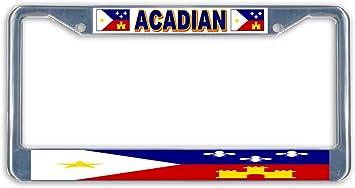 Acadian Day Flag Metal License Plate Vanity Car Tags 6 X 12