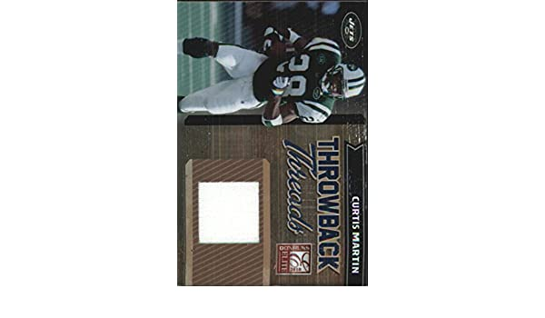2010 Donruss Elite Throwback Threads #10 Curtis Martin Game-Worn Jersey Card Serial #d/299 at Amazons Sports Collectibles Store