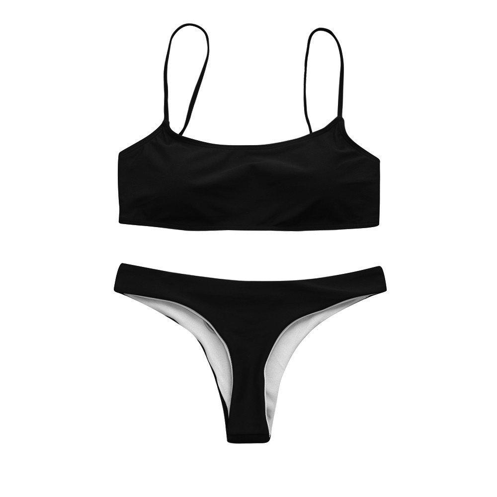 EOWEO Anniversary celebration Women Swimwear Women Bandeau Bandage Bikini Set Push-Up Brazilian Swimwear Beachwear Swimsuit