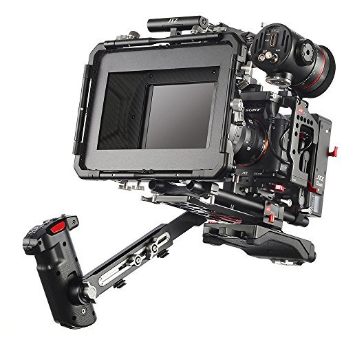JTZ DP30 Camera Cage with 15mm Rail Rod Baseplate Rig&Top Handle+ Shoulder Pad&Electronic Grip+ Follow Focus+ 4×4