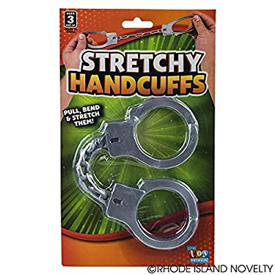 Rhode Island Novelty 10.5 Inch Stretch Rubber Elastic Handcuffs Pack of 2: Toys & Games