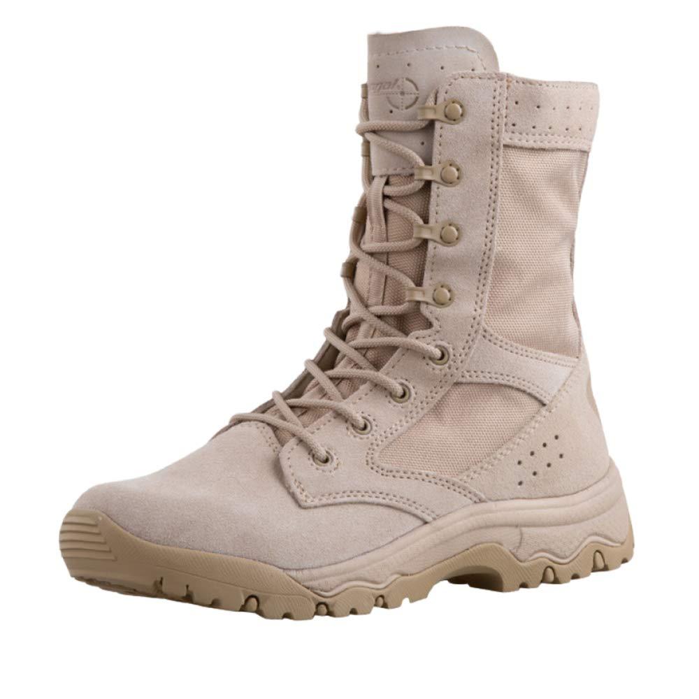 botas Militares Tácticas hombres negro Patrulla Transpirable Ligero botas Altas Anti Deslizamiento Y Resistencia Al Desgaste SandColor
