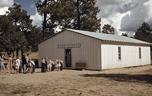 New Mexico School 1940 Nthe School In The Farm Bureau Building In Pie Town New Mexico Photograph By Russell Lee 1940 Poster Print by (24 x 36)