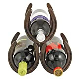 Horseshoe 3 Bottle Metal Wine Rack by Foster and Rye