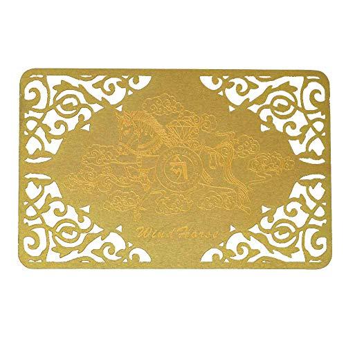 (Feng Shui Windhorse Gold Talisman W3723)