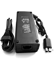 Kasit 1PC Power Supply Brick AC Adapter Charger Power Supply Cable Cord for Microsoft Xbox 360 Slim Ersatz -EU Stecker