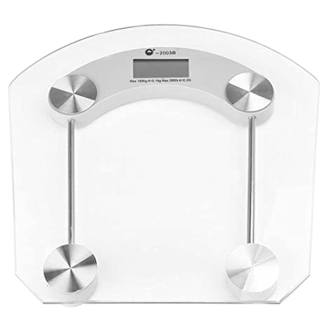 OcioDual Bascula de Baño 180Kg Digital Peso Cristal Transparente ...