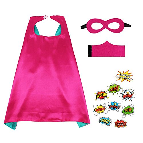 Childrens Superhero mask and Cuff Solid Color Set