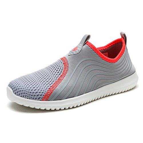 DREAM PAIRS Women's C0206_W Lt.Grey Coral Fashion Athletic Water Shoes Sneakers Size 7.5 M US