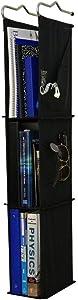 Del Design   Hanging Locker Ladder Organizer For School, Work, Gym Storage3 Shelves9x5.5x38 Inches (Black)