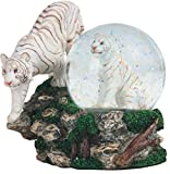 StealStreet SS-G-28052 Two White Tigers Snow Globe, 4.25""