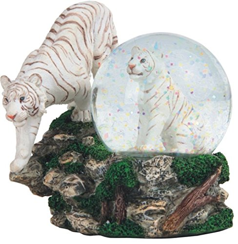 (StealStreet SS-G-28052 Two White Tigers Snow Globe, 4.25