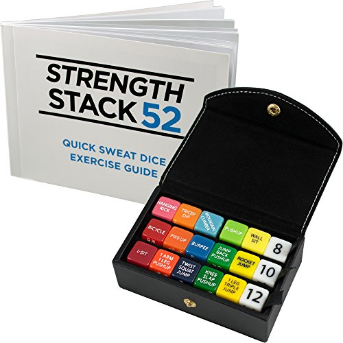 Stack 52 Fitness Dice Box Set (Black) Bodyweight Exercise Workout Game. Designed by a Military Fitness Expert. Video Instructions Included. No Equipment Needed. Build Muscle at Home