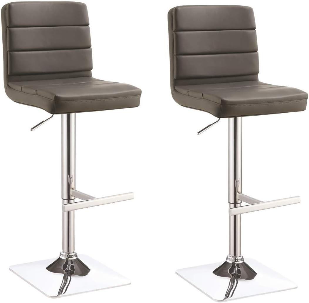 Coaster Home Furnishings 120696 Adjustable Bar Stool, Grey