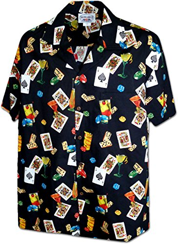 Las Vegas Lucky Shirt for Men's 3898Black 2XL