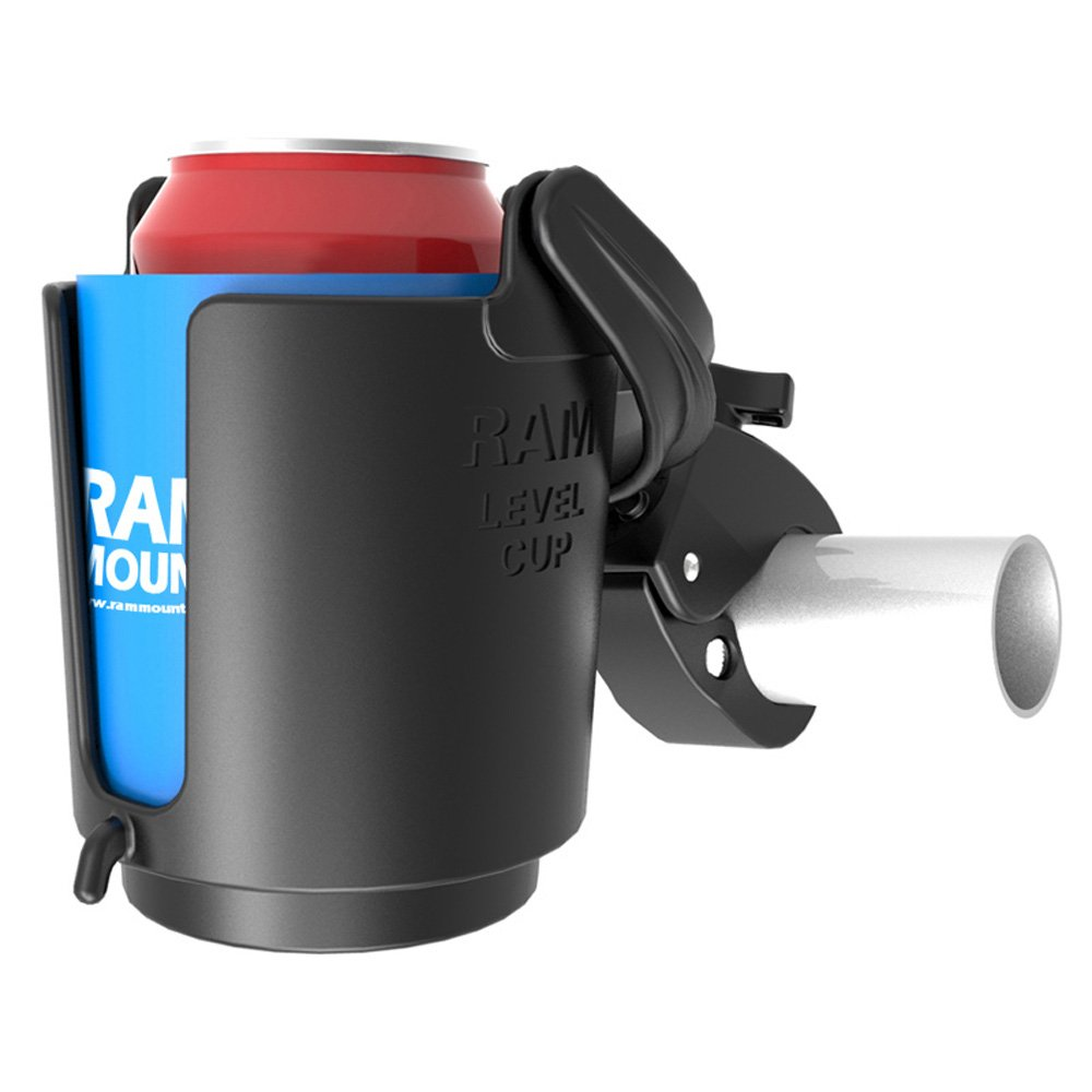RAM MOUNTS (RAM-B-132-400U Tough-Claw Mount with Self-Leveling Cup Holder by RAM MOUNTS