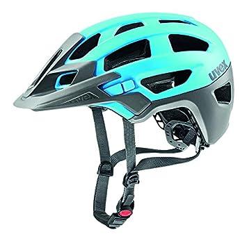 Uvex Finale - Casco de Ciclismo Unisex, Color Azul Cian/Plata, Talla 52