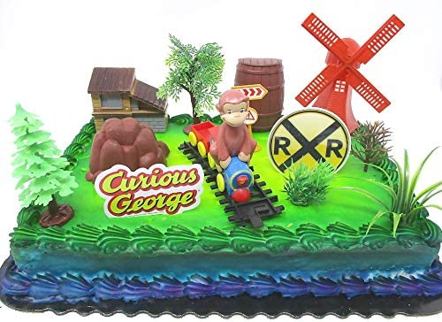 love cake decorating ideas.htm amazon com curious george 16 piece birthday cake topper set  curious george 16 piece birthday cake