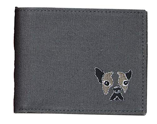 Perry Ellis Mens Dog Bifold Wallet Grey One Size