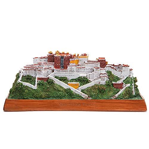 Decoration Home, Landmark Building Model, China's Tibet Potala Palace, Decorative Collections Small Sculptures, Tourist Souvenirs, (15 x 10 x 9 -